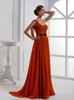 Orange One-Shoulder Evening Dresses Party Dresses Prom Pageant Dresses SZ 2-6-10 12-18 HE1227071