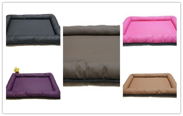 De alta calidad de cuero de LA PU impermeable perro gato mascota cojín estera cama 2 cm grosor de esponja cinco colores