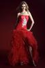 Red Organza Strapless Evening Dresses Party Dresses Prom Pageant Dresses SZ 2-6-10 12-18 HE1227076
