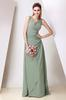 Sage V-Neck Chiffon Evening Dresses Party Dresses Prom Pageant Dresses SZ 2-6-10 12-18 HE1227081