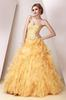 Yellow Strapless Beads Evening Dresses Party Dresses Prom Pageant Dresses SZ 2-6-10 12-18 HE1227083