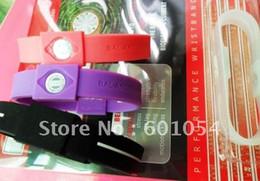 Wholesale Energy Band Retail - On Sale - 20pcs lot Energy Silicone Power Bracelet Sport Wristband Hologram Band With Retail Box