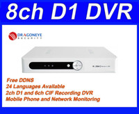 Wholesale 8ch Dvr Mobile Audio - Freeshipping h.264 8ch D1 DVR with 2ch D1 recording, Mobile Phone View, 1ch audio, Network Monitor,