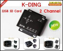 Wholesale Security Camera Sd Memory - car dvr 2CH Car Security DVR Mini DVR SD Video Audio CCTV Camera Recorder