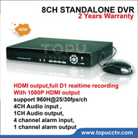 Wholesale D1 H 264 8ch - Free shipping 8CH DVR video Recorder H.264 HDMI Output Full D1 Realtime Recording Hybrid NVR TP-6008
