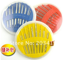 hand sewing kit set Canada - Wholesale free shipping DIY Hand Needle assorted sewing kit set tool per pack for 24 pieces of needle box