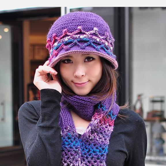 Pure Wool Knitted Hat Bucket Hats Women s Hat Steel Bean Purple Canada 2019  From Xinheng8 d8f4aa607ac