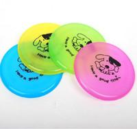 Wholesale Large Frisbee Disc - 20cm Diameter Pet Plastic Frisbee Dog Sport Flying Disc Color Random 20pcs lot