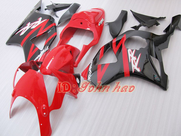 Red Black motorcycle fairings for Honda CBR900RR 954 CBR CBR954RR CBR954 2002 2003 02 03 road racing fairing kit
