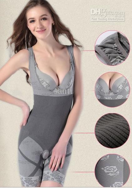 Mode Natürliche Bambuskohle Body Shaper Unterwäsche Schlank Schlanker Anzug Bodysuits