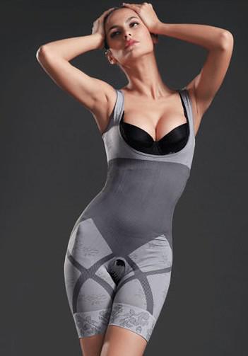 Mode natuurlijke bamboe houtskool body shaper ondergoed slank afslanken pak bodysuits