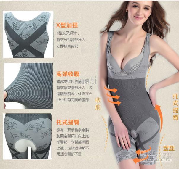 Corps naturel bambou charbon de corps shaper sous-vêtements slim minceur combinaisons