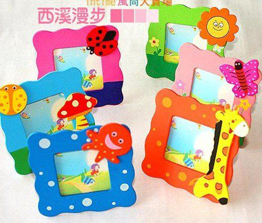2018 wooden cartoon photo frame home decorative picture for Craft picture frames bulk