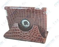 Wholesale Ipad Mini Crocodile Pink Case - 360 degree crocodile rotating leather case for apple ipad mini 3 mini 2 mini 1 100pcs lot
