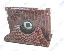 Wholesale Leather Case Crocodile Ipad Mini - 360 degree crocodile rotating leather case for apple ipad mini 3 mini 2 mini 1 100pcs lot
