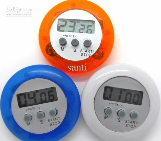 Novelty Digital Kitchen Timer Kök Hjälper Mini Digital LCD Kök Räkna Down Clip Timer Alarm