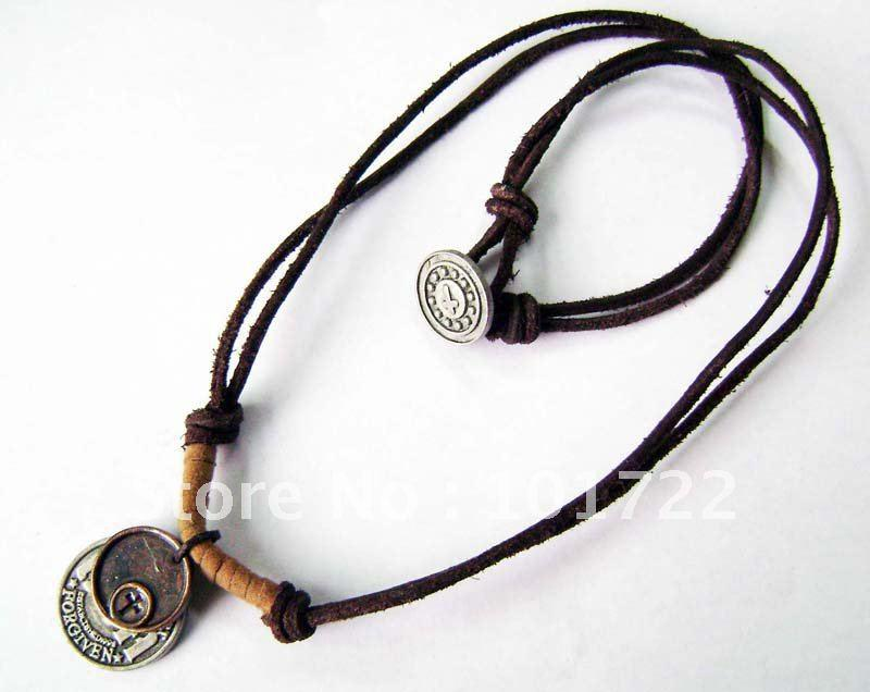 Wholesale necklace leather cord cross necklace leather rope wholesale necklace leather cord cross necklace leather rope necklace fast delivery time with high quality coin pendant necklace anchor pendant necklace from mozeypictures Choice Image