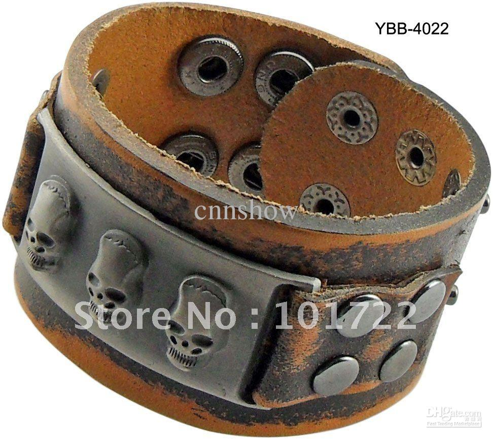 Free Shipment,fashion Leather Cuff,men's Leather Bracelet,real Leather  Quality
