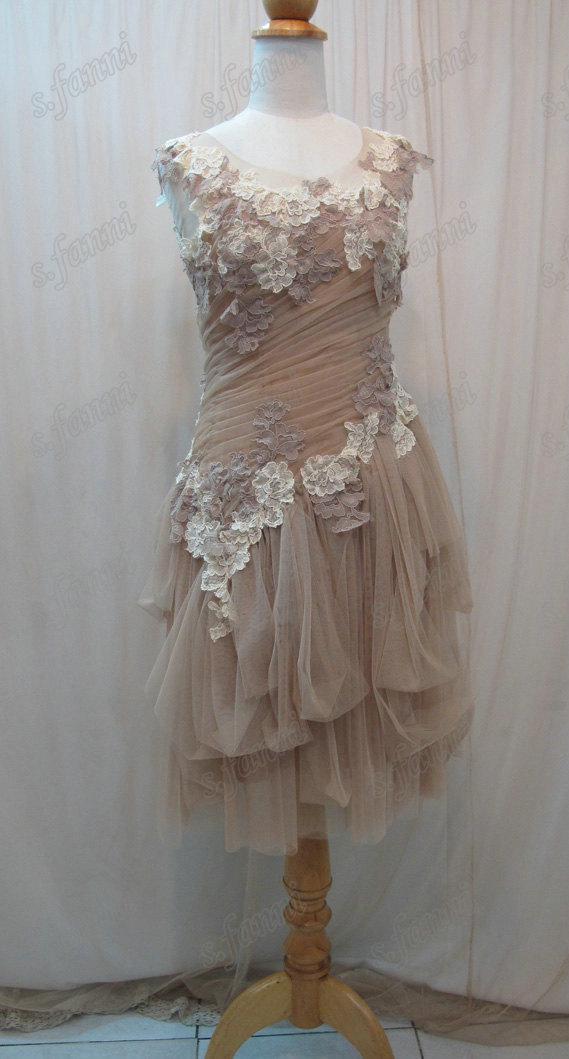 Ny ankomst handgjord blomma mjuk tulle ruffle spets korall brudtärna klänningar bd018