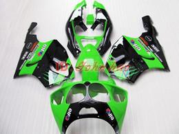 Wholesale 99 Zx7r Plastics - Green+Black ABS Plastic Fairing kit for Kawasaki Ninja ZX7R 1996 - 2003ZX 7R ZZR 750 96 97 98 99 00