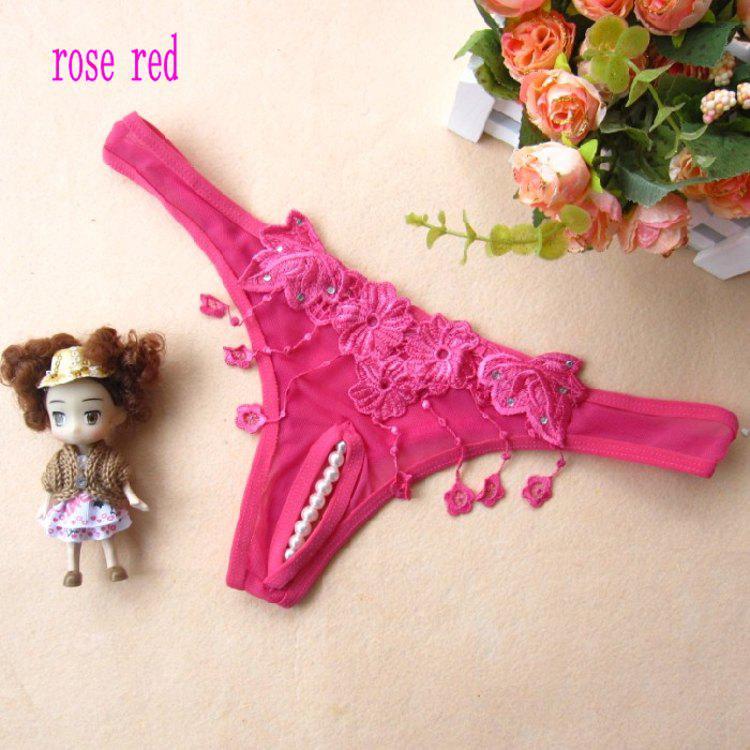 9633 # Bragas sexy perla abierta entrepierna tanga sexy, rojo, negro, blanco, rosa rojo, rosa, púrpura lotes