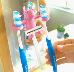 Wholesale Dental Tubes - Piggy Sucker Toothpaste Tube Toothbrush Holder Dental Bench Razor Box Shaver Frame