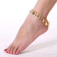 çanlar süslüyor toptan satış-Sıcak Yeni Takı Setleri Belly Dance Bells ayak dekore dans halhal ayak zinciri Bollywood Dans Sahne 444