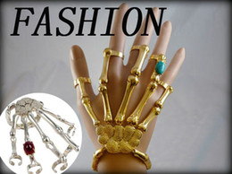 Wholesale Talon Hand Bracelet - PUNK GOTH SKELETON SKULL SLAVE BONES TALON HAND BRACELET GAGA STYLE