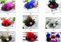 Wholesale Mini Top Hats Children - Women children Feather Hair Clip Mini Top Hat Fascinator Cocktail Party Decor