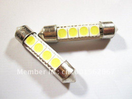 Wholesale 3smd Led - 100 * 4SMD 5050 41mm LED Festoon Dome Light Bulbs White color 3smd 31mm 36mm 39mm