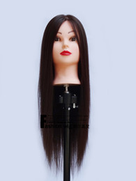 "Wholesale Mannequin Head Hairdressing - 22"" Cosmetology Mannequin Head SYNTHETIC Hair Table Clamp Holder Included"