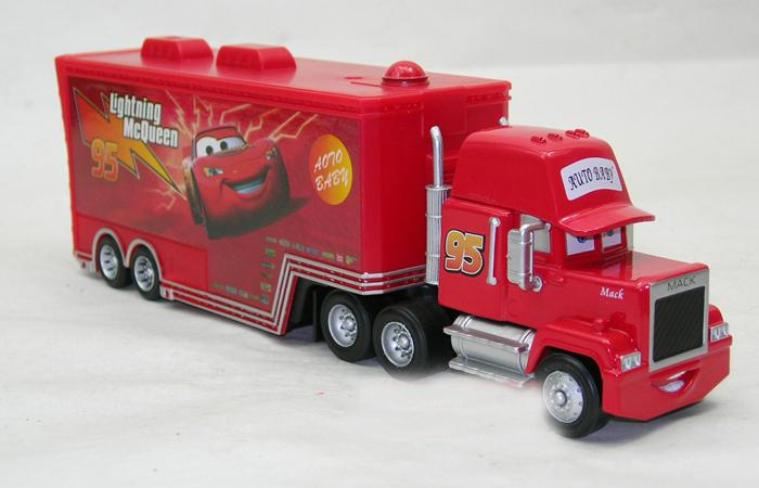 acquista pixar cars 2 auto cars2 mack camion giocattolo rosso mack hauler mcqueen moive figura. Black Bedroom Furniture Sets. Home Design Ideas