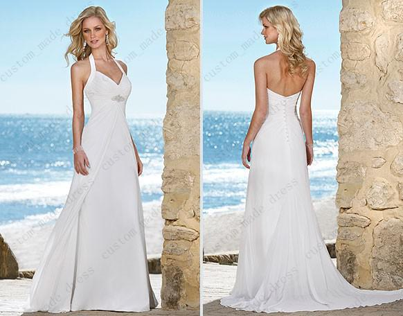 Discount summer white halter wedding dress empire waist beaded discount summer white halter wedding dress empire waist beaded ruched court train button back chiffon 5425 wedding dress online store wedding dresses and junglespirit Choice Image