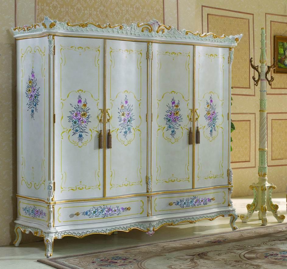 2018 Italian Furniture Bedroom Royalty Solid Wood