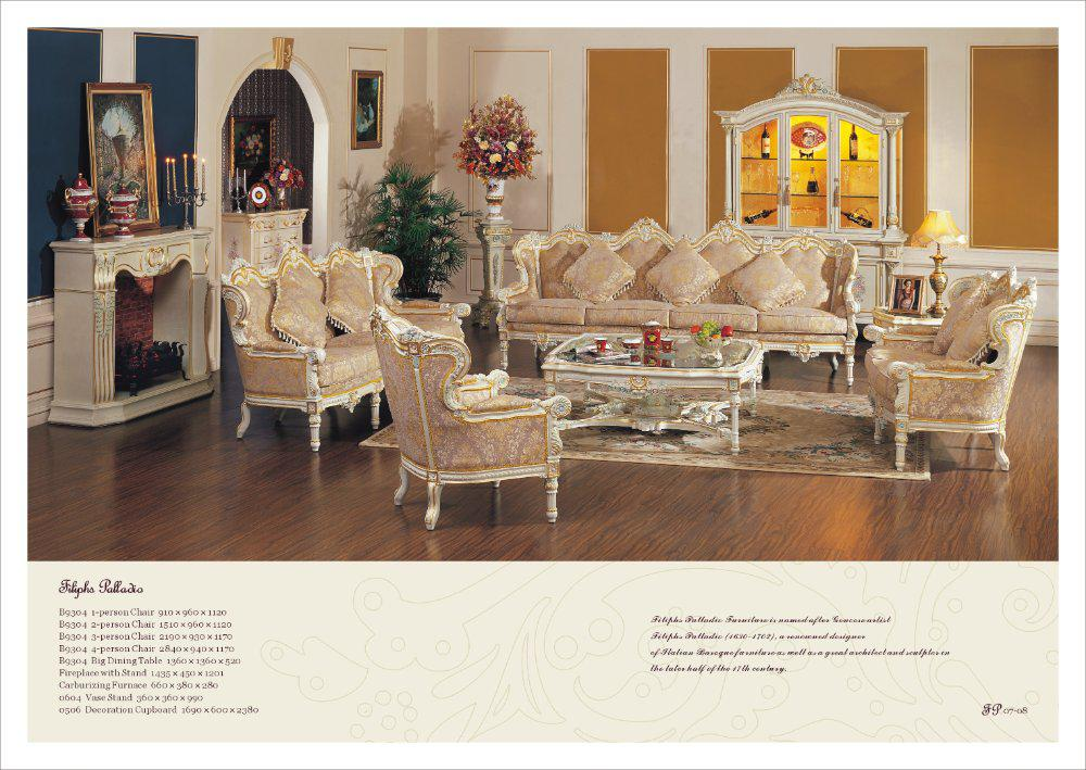 French Style Living Room Set Antique Style Furniture Free Shipping