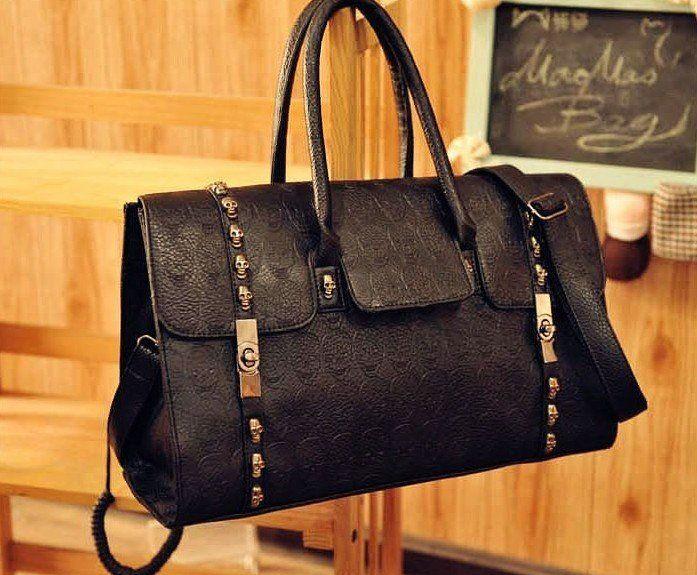 Classic Skeleton Head Handbags Hobos Studded Leather Bag Ladies Skull Bag  Hot Sale Shoulder Messenger Bag Hot Designer EB127 Satchel Messenger Bags  From ... 7e6f5b4cd82cf