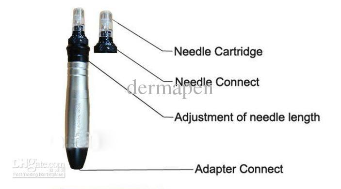 Derma Pen MicroTitanium Nadel Vibrating Pen Elektrische Derma Stempel mit Ersatzpatronen
