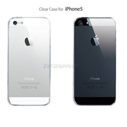 Wholesale Cheap Iphone Hard Cases - DHL Ultra Thin Clear Cheap Back Cover Transparent Case Crystal Hard Protector for Apple iPhone 5 5G