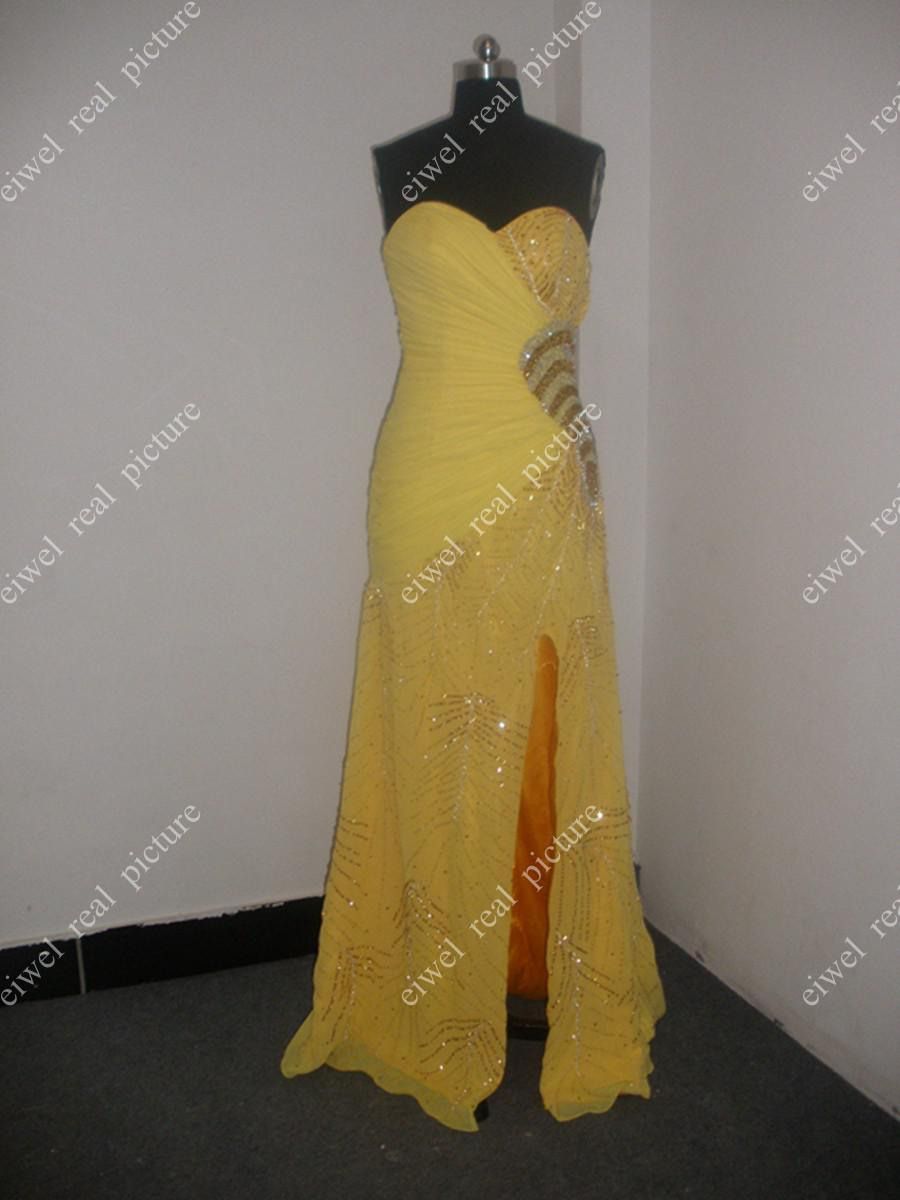 Sequined Beaded Prom Dresses A Line Floor Length Sweetheart Side Split Ladies Pagent Gowns
