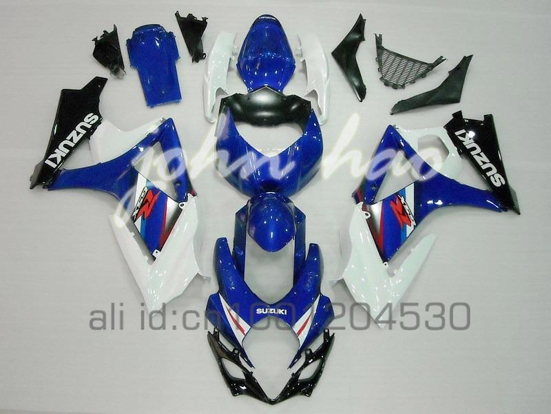 Kits de carenaje azul / blanco para Suzuki GSXR1000 07 08 GSX-R1000 2007 2008 GSXR 1000 K7 07 08 Kit de carenados corporales