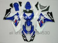 ingrosso kit corporeo per gsxr-Kit carene blu / bianche per SUZUKI GSXR1000 07 08 GSX-R1000 2007 2008 GSXR 1000 K7 07 08 kit carene