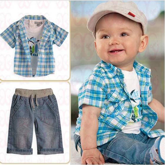2017 Summer Kids Clothes Boy Suit Baby Clothes Short