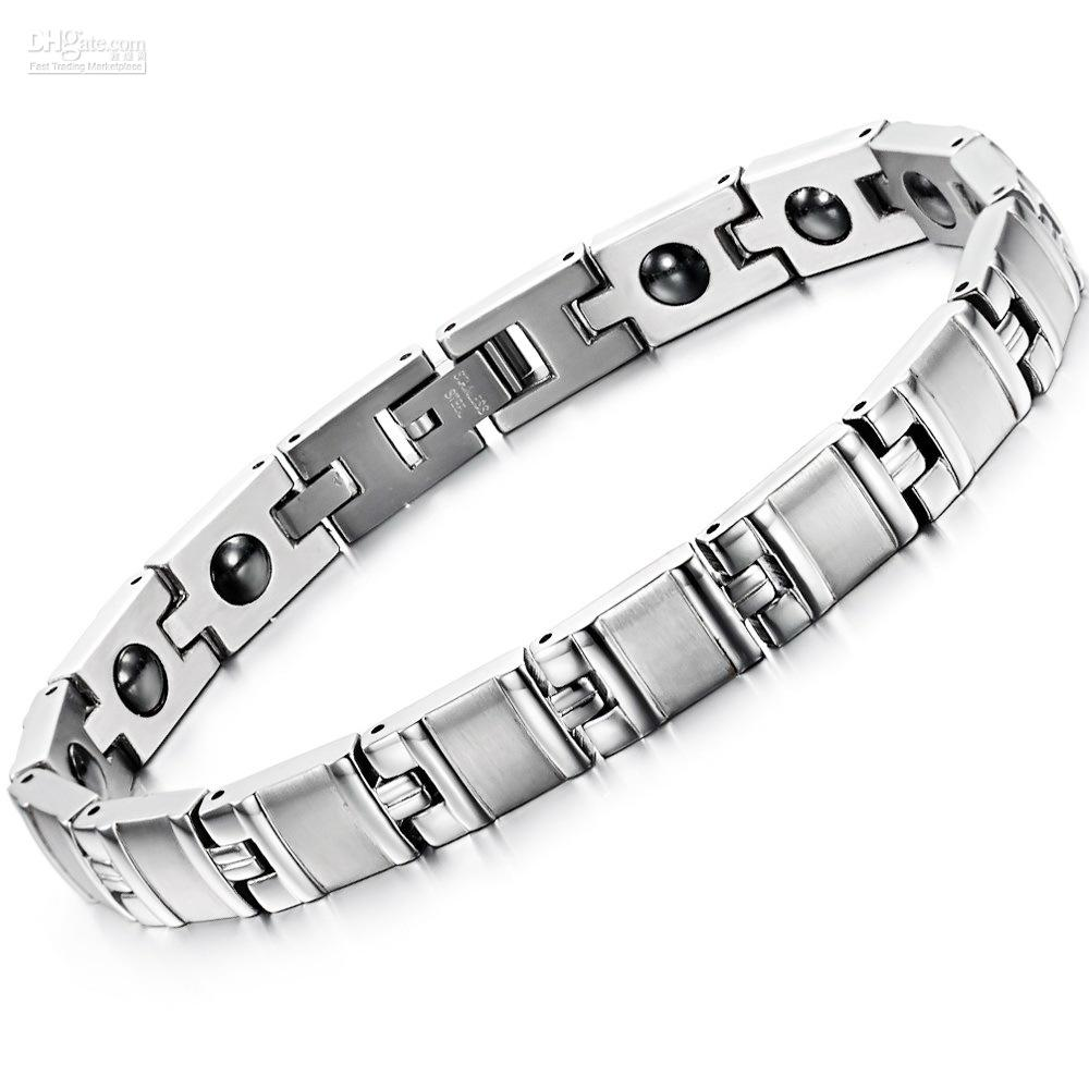 e19c456b9a1 2019 Cool Men s Jewelry Stainless Steel Bracelet Contain Energy Magnetic  Stone Health Bracelet 8380 From Jewelry Factory