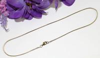 """Wholesale Wholesale Bronze 18 Necklaces - 12PCS 1.5mm antiqued bronze snake chain necklace 18"""" #22553"""