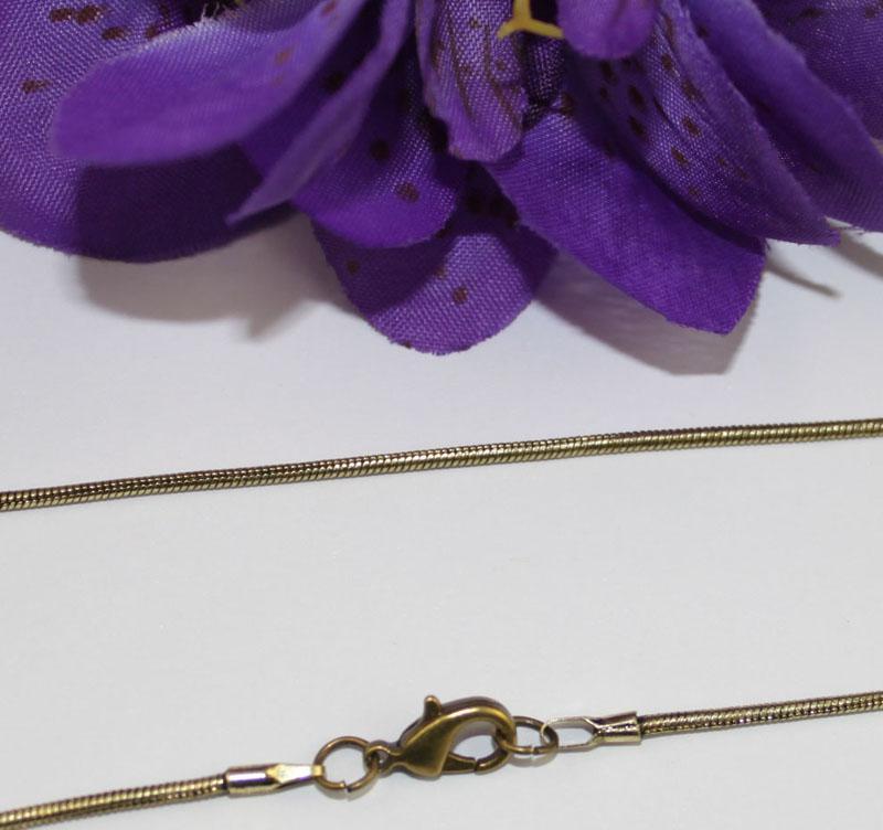 12 ADET 1.5mm antiqued bronz yılan zincir kolye 18
