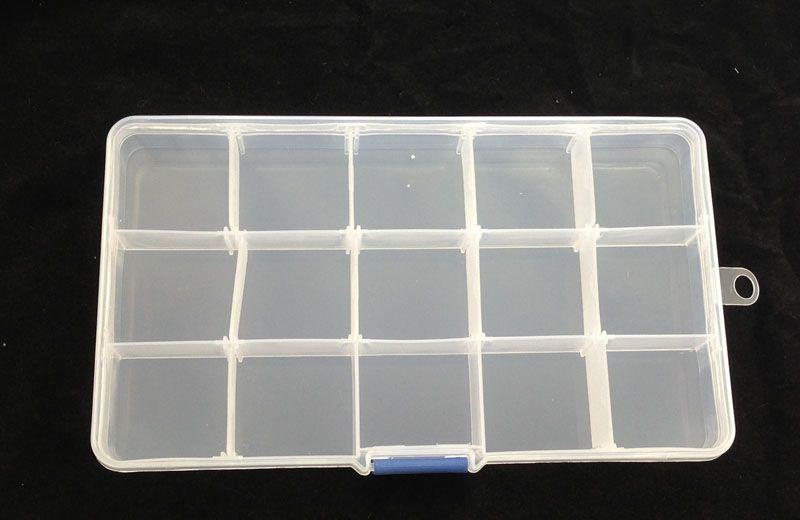 15-Slots Clear Storage Box Bead Organizer Display Case #22565