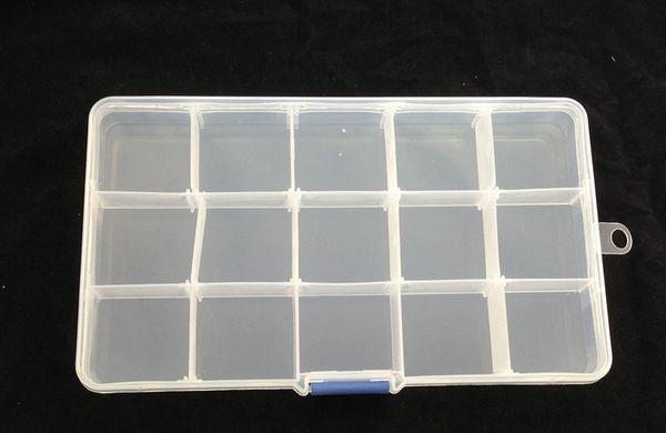 15-Slots Clear Storage Box Bead Organizer Display Case 1pcs #22565