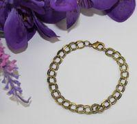 Wholesale Antiqued Chain Wholesale - 12pcs Antiqued bronze double textured ring chain bracelets #22559