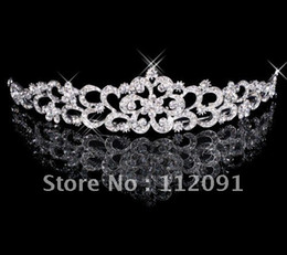 Wholesale 2016 Luxury Crystal Flower like Wedding Bridal Bridesmaid Prom Party Rhinestone Tiara Vintage Wedding