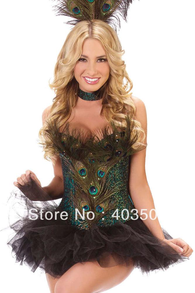 2018 Peacock Corset Set 5262 Women Christmas Costume Party Costume Halloween Costume From Onlinestores $47.44 | Dhgate.Com  sc 1 st  DHgate.com & 2018 Peacock Corset Set 5262 Women Christmas Costume Party Costume ...